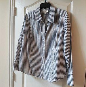 SALE Talbots 16W Petite Button Down Striped Shirt